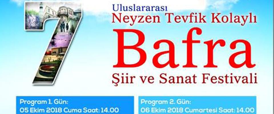 Bafra Uluslararası Neyzen Tevfik Kolaylı Şiir ve Edebiyat Eestivali başladı