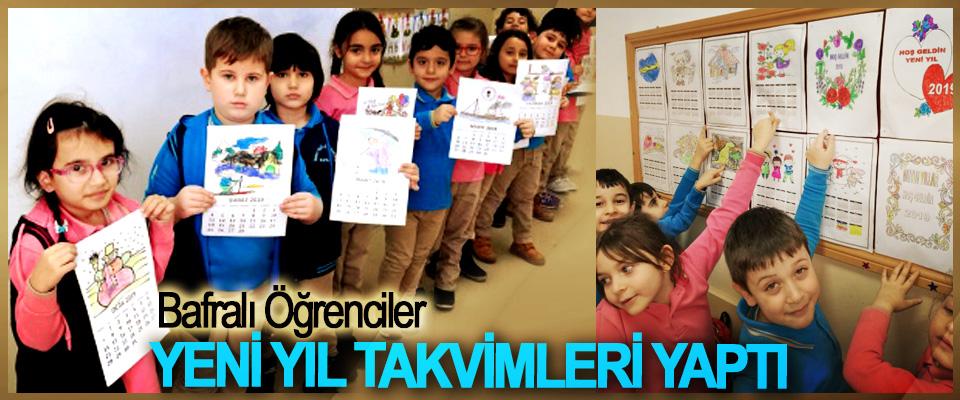 Bafralı Öğrenciler Yeni Yıl Takvimleri Yaptı