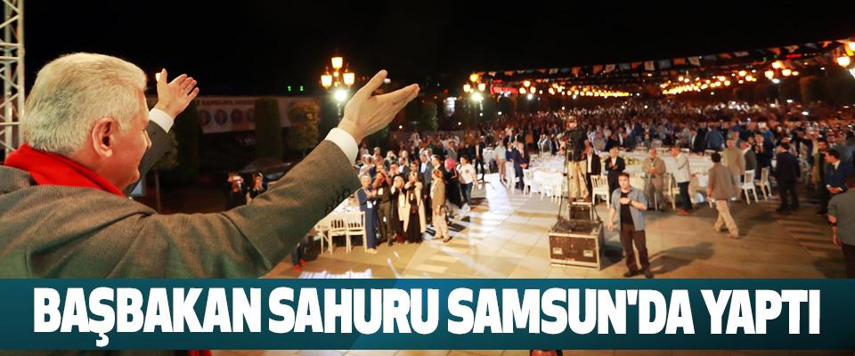 Başbakan Sahuru Samsun'da Yaptı