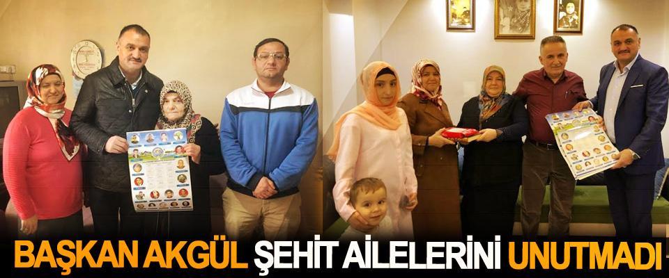Başkan Akgül Şehit Ailelerini Unutmadı