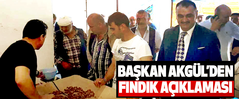 Başkan Akgül'den Fındık Açıklaması