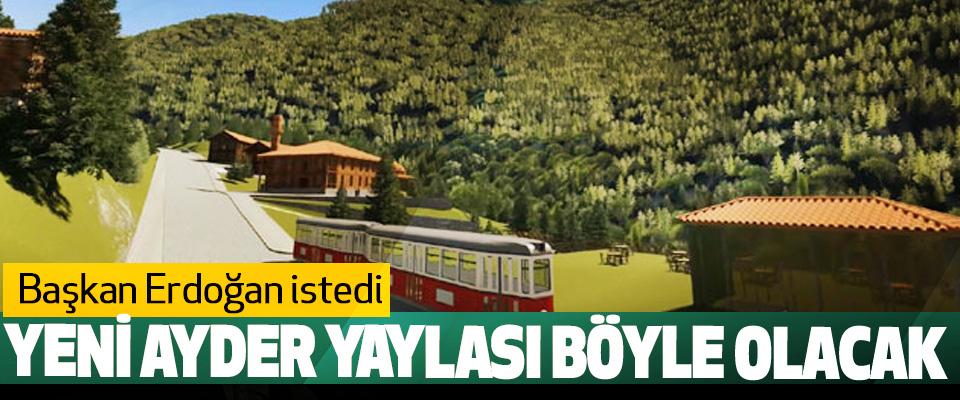Başkan Erdoğan istedi, Yeni Ayder Yaylası Böyle Olacak
