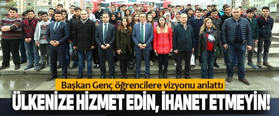 Başkan Genç öğrencilere vizyonu anlattı