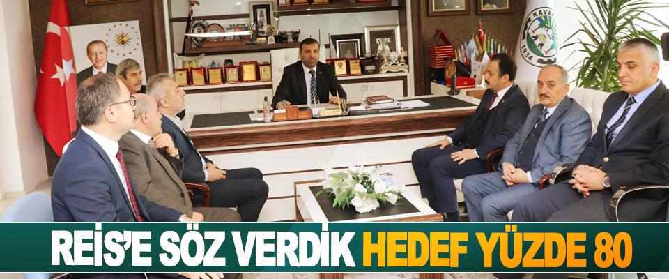Başkan Sarıcaoğlu: Reis'e Söz Verdik Hedef Yüzde 80