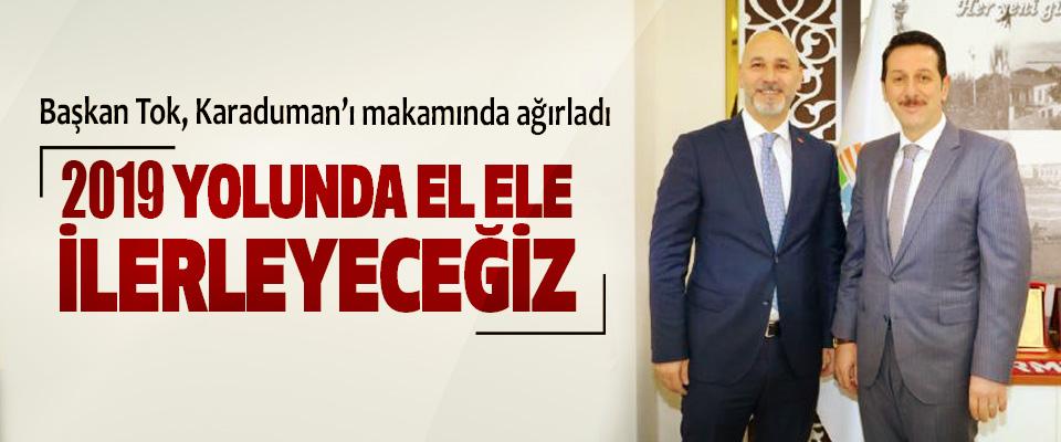 Başkan Tok, Ak Parti İl Başkanı Karaduman'ı makamında ağırladı