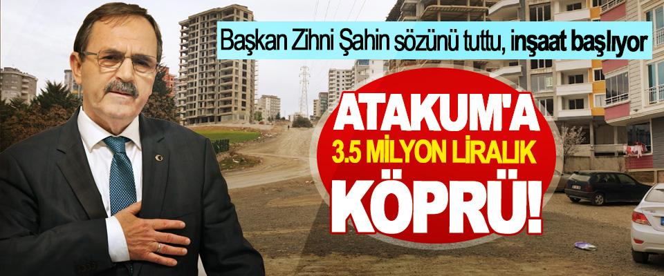 Başkan Zihni Şahin sözünü tuttu, inşaat başlıyor; Atakum'a 3.5 milyon liralık köprü!