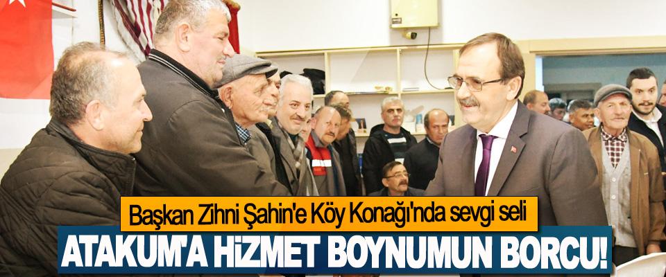 Başkan Zihni Şahin'e Köy Konağı'nda sevgi seli