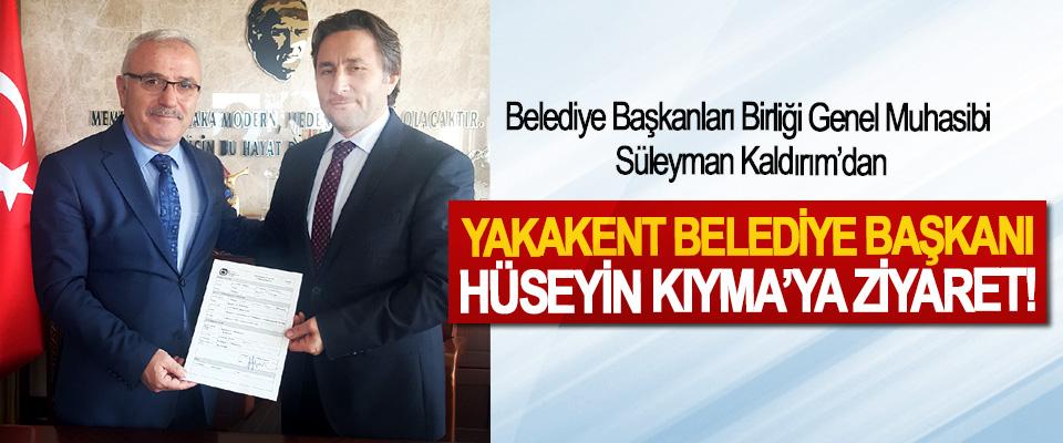 Belediye Başkanları Birliği Genel Muhasibi Süleyman Kaldırım'dan Yakakent belediye başkanı Hüseyin Kıyma'ya ziyaret!