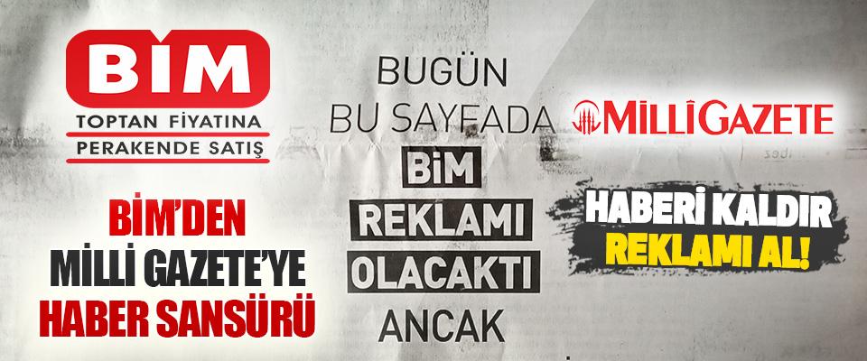 Bim'den Milli Gazete'ye Haber Sansürü