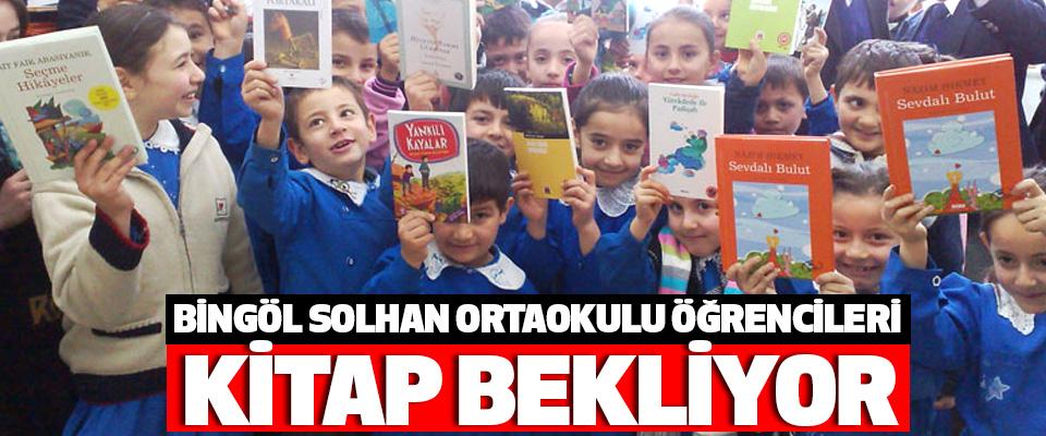 Bingöl Solhan Ortaokulu Öğrencileri Kitap Bekliyor