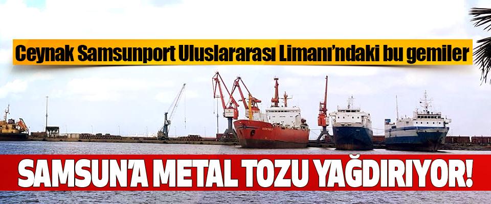 Bu gemiler Samsun'a metal tozu yağdırıyor!