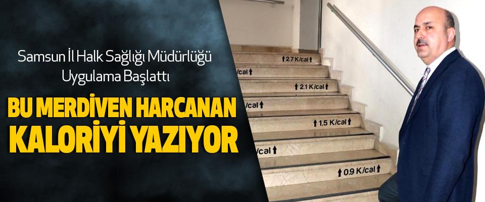 Bu Merdiven Harcanan Kaloriyi Yazıyor