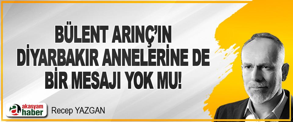 Bülent Arınç'ın Diyarbakır Annelerine de Bir Mesajı Yok mu!