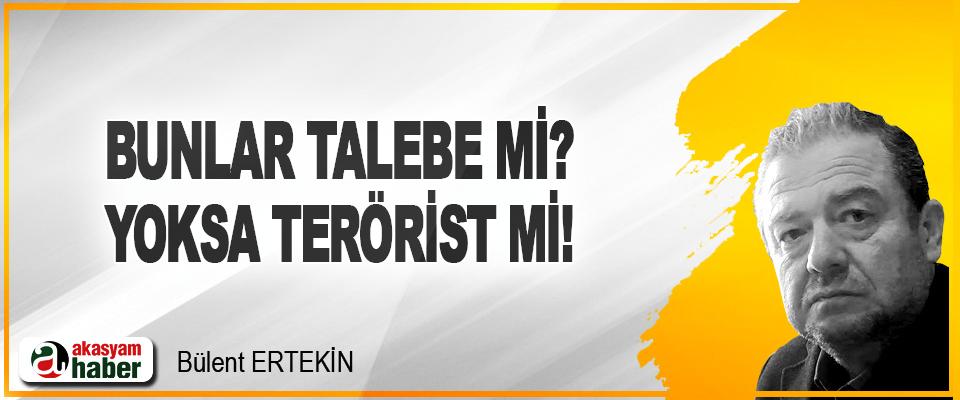 Bunlar Talebe mi? Yoksa Terörist mi!
