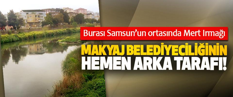 Burası Samsun'un ortasında Mert Irmağı Makyaj belediyeciliğinin hemen arka tarafı!