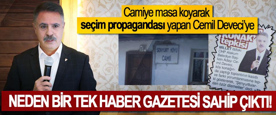 Camiye masa koyarak seçim propagandası yapan Cemil Deveci'ye Neden bir tek Haber Gazetesi sahip çıktı!
