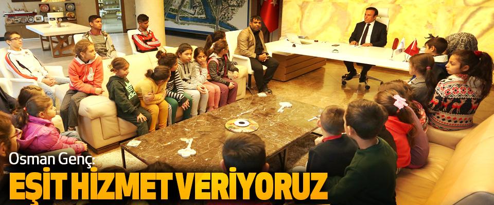 Canik Belediye Başkanı Osman Genç: eşit hizmet veriyoruz