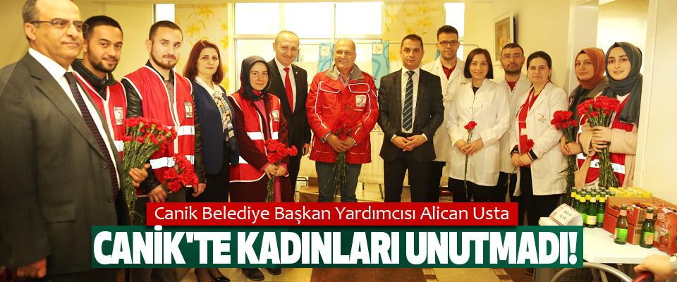 Canik Belediye Başkan Yardımcısı Alican Usta Canik'te kadınları unutmadı!