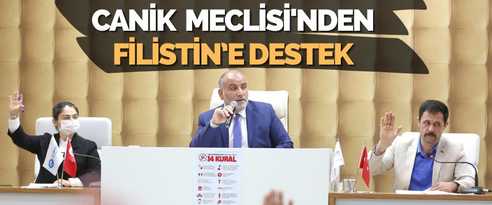Canik Belediye Meclisi'nden Filistin'e Destek