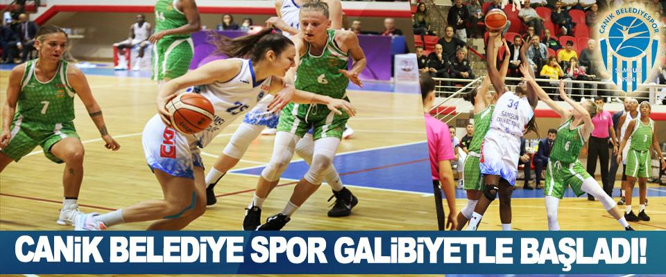Canik belediye spor galibiyetle başladı!