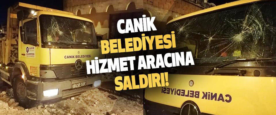 Canik Belediyesi Hizmet Aracına Saldırı!