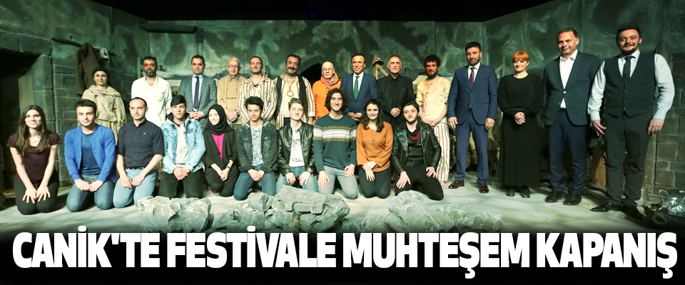 Canik'te Festivale Muhteşem Kapanış