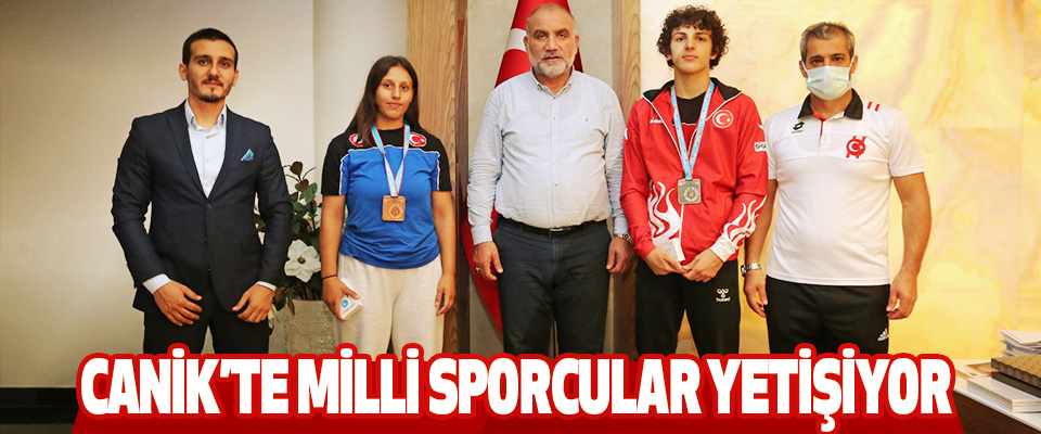 Canik'te Milli Sporcular Yetişiyor