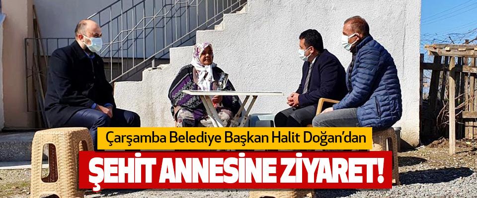 Çarşamba Belediye Başkan Halit Doğan'dan Şehit Annesine Ziyaret!