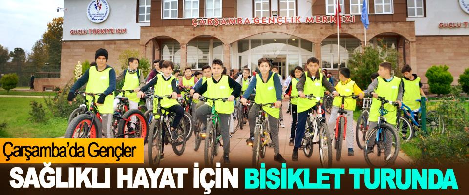 Çarşamba'da Gençler Sağlıklı Hayat İçin Bisiklet Turunda