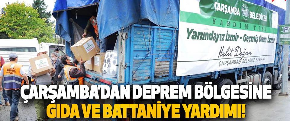 Çarşamba'dan Deprem Bölgesine Gıda ve Battaniye Yardımı!