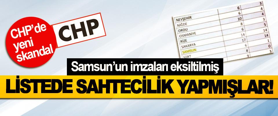 CHP'de yeni skandal, Samsun'un imzaları eksiltilmiş