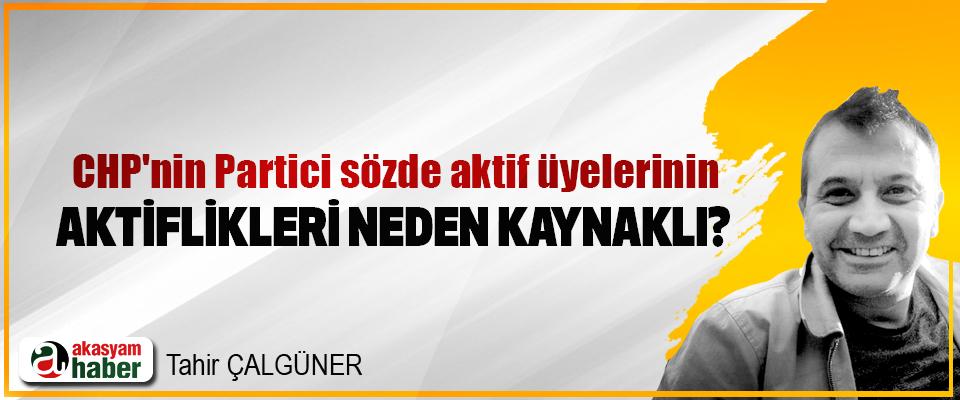 CHP'nin Partici sözde aktif üyelerinin aktiflikleri neden kaynaklı?