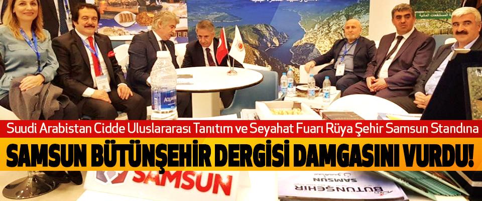 Cidde Uluslararası Tanıtım ve Seyahat Fuarına Samsun Bütünşehir dergisi damgasını vurdu!