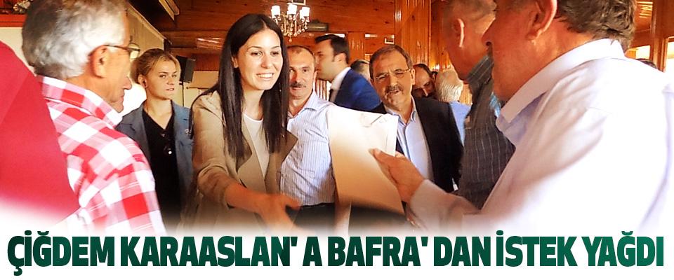 Çiğdem Karaaslan'a Bafra'dan İstek Yağdı
