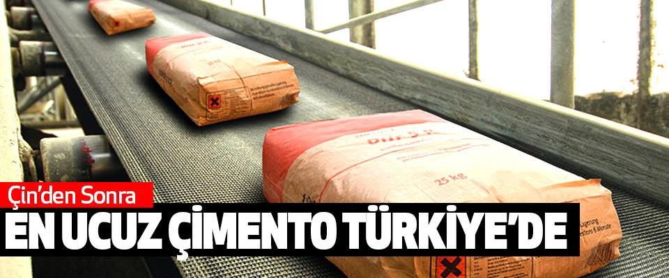 Çin'den Sonra En Ucuz Çimento Türkiye'de