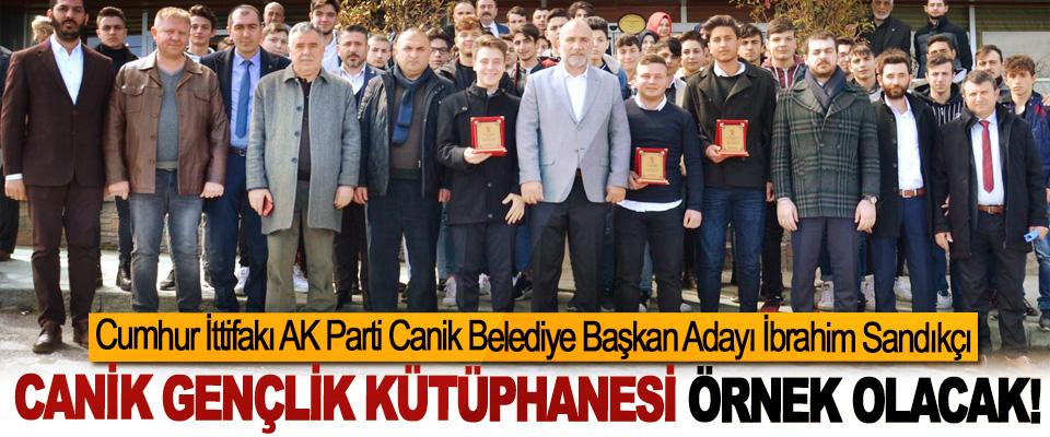 Cumhur İttifakı AK Parti Canik Belediye Başkan Adayı İbrahim Sandıkçı; Canik gençlik kütüphanesi örnek olacak!