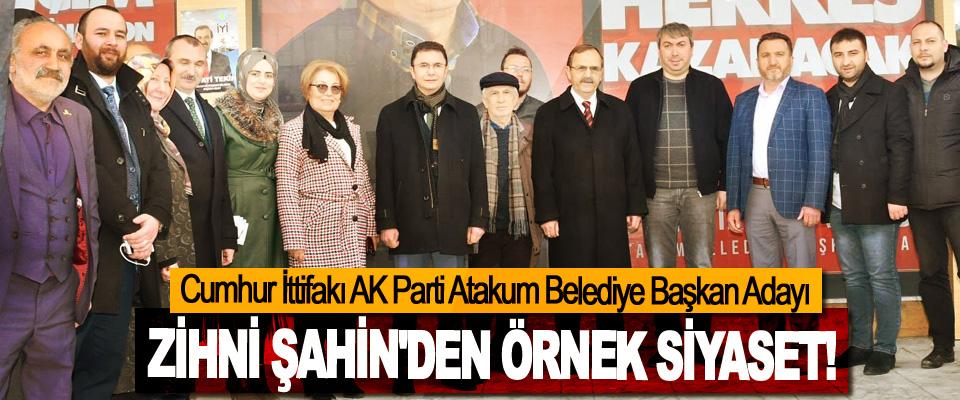 Cumhur İttifakı AK Parti Atakum Belediye Başkan Adayı Zihni Şahin'den örnek siyaset!