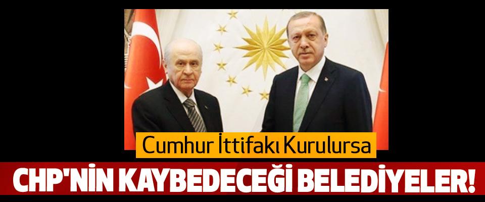 Cumhur İttifakı Kurulursa CHP'nin Kaybedeceği Belediyeler!