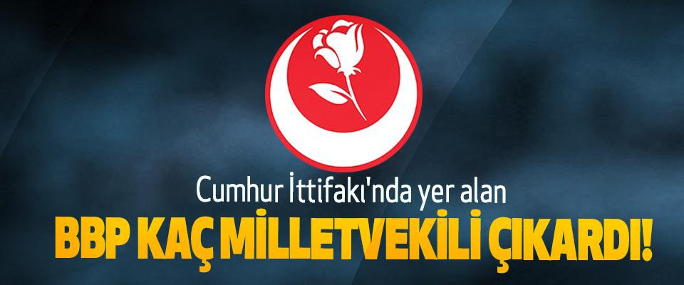Cumhur İttifakı'nda yer alan BBP Kaç Milletvekili Çıkardı!