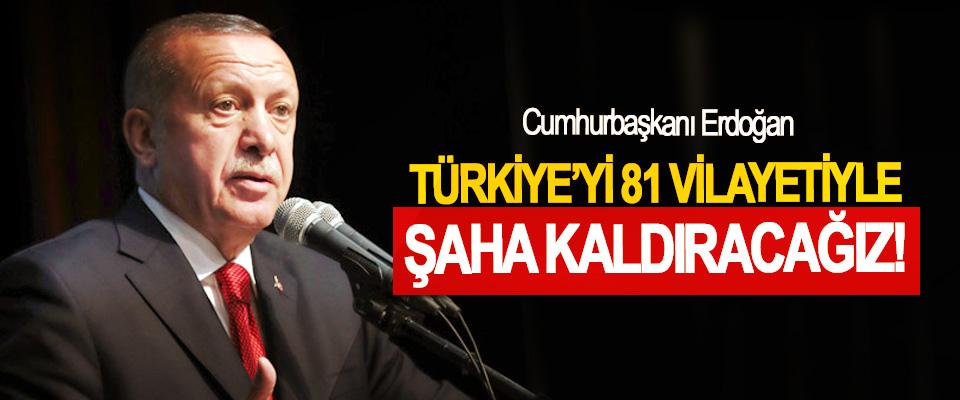Cumhurbaşkanı Erdoğan: Türkiye'yi 81 Vilayetiyle Şaha Kaldıracağız!
