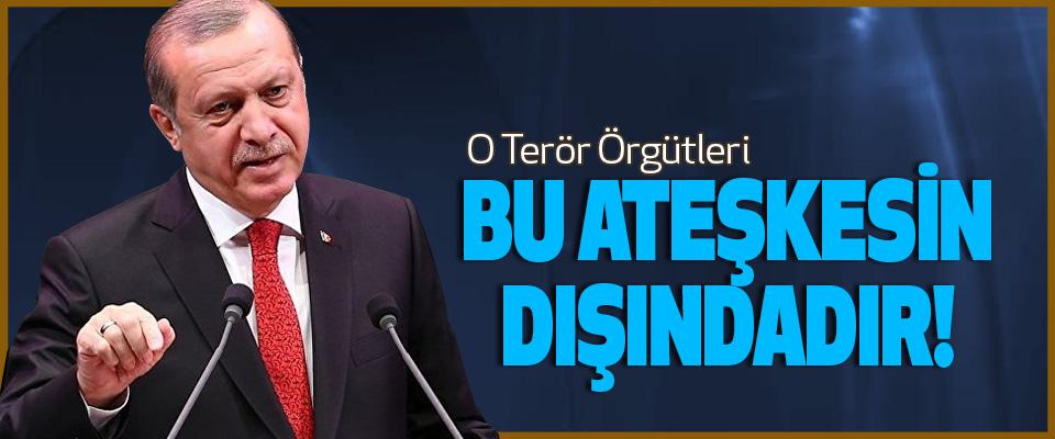 Cumhurbaşkanı Erdoğan, O Terör Örgütleri Bu Ateşkesin Dışındadır!