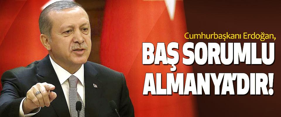 Cumhurbaşkanı Erdoğan: Baş sorumlu almanya'dır!