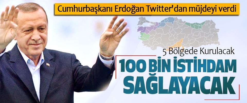 Cumhurbaşkanı Erdoğan Twitter'dan müjdeyi verdi