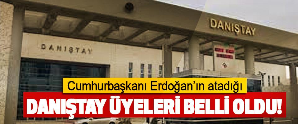Cumhurbaşkanı Erdoğan'ın atadığı Danıştay üyeleri belli oldu!