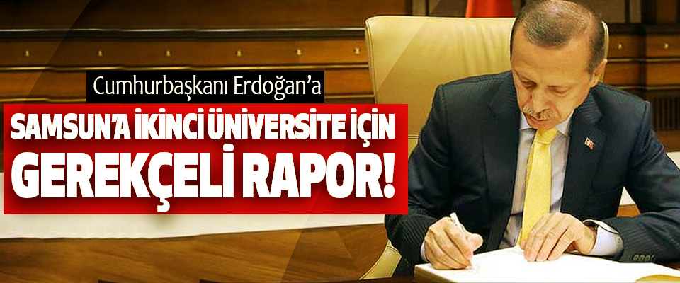 Cumhurbaşkanı Erdoğan'a Samsun'a ikinci üniversite için gerekçeli rapor!