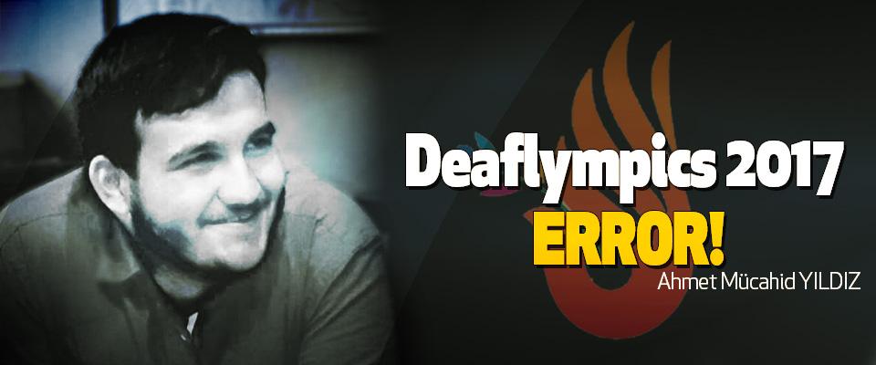 Deaflympics 2017 error!