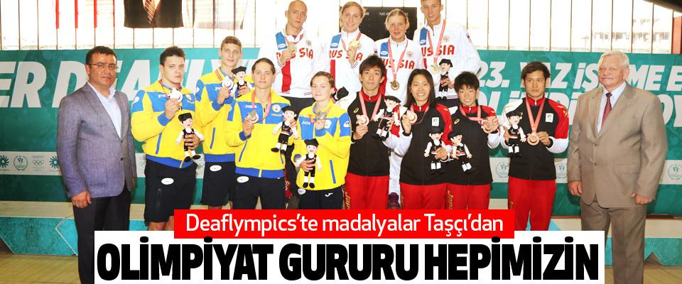 Deaflympics'te madalyalar Taşçı'dan