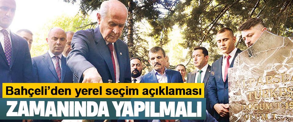 Devlet Bahçeli'den yerel seçim açıklaması