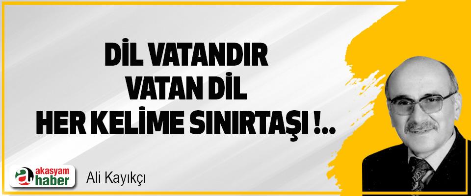 Dil Vatandır, Vatan Dil; Her Kelime Sınırtaşı!..