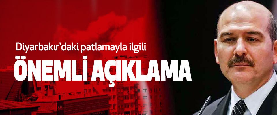 Diyarbakır'daki patlamayla ilgili Önemli Açıklama